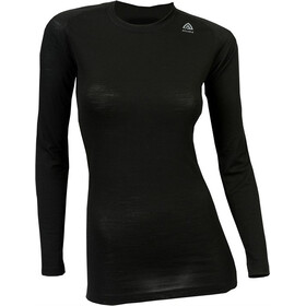 Aclima LightWool Crew Neck Shirt Women JetBlack